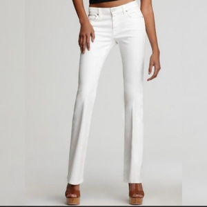 7 for All Mankind White Bootcut Jeans Size 26